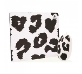 Combo Mouse y Mouse Pad - blanco y negro