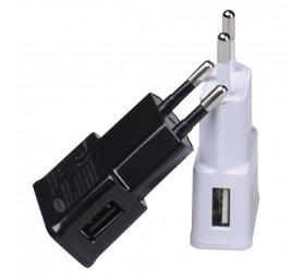 Cargador 220v a USB H - 2 A - Blancos