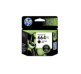 HP - Cartucho 664 XL - Negro